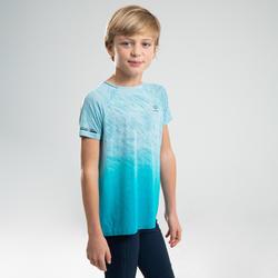 AT 500 KIDS' ATHLETICS T-SHIRT - TURQUOISE