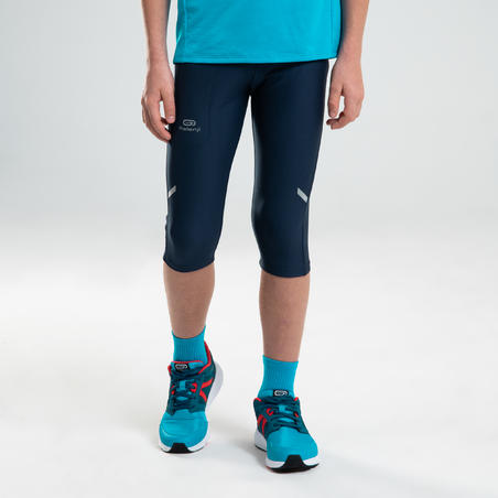 CELANA GANTUNG ATLETIK ANAK AT 100 - NAVY BLUE/TURQUOISE
