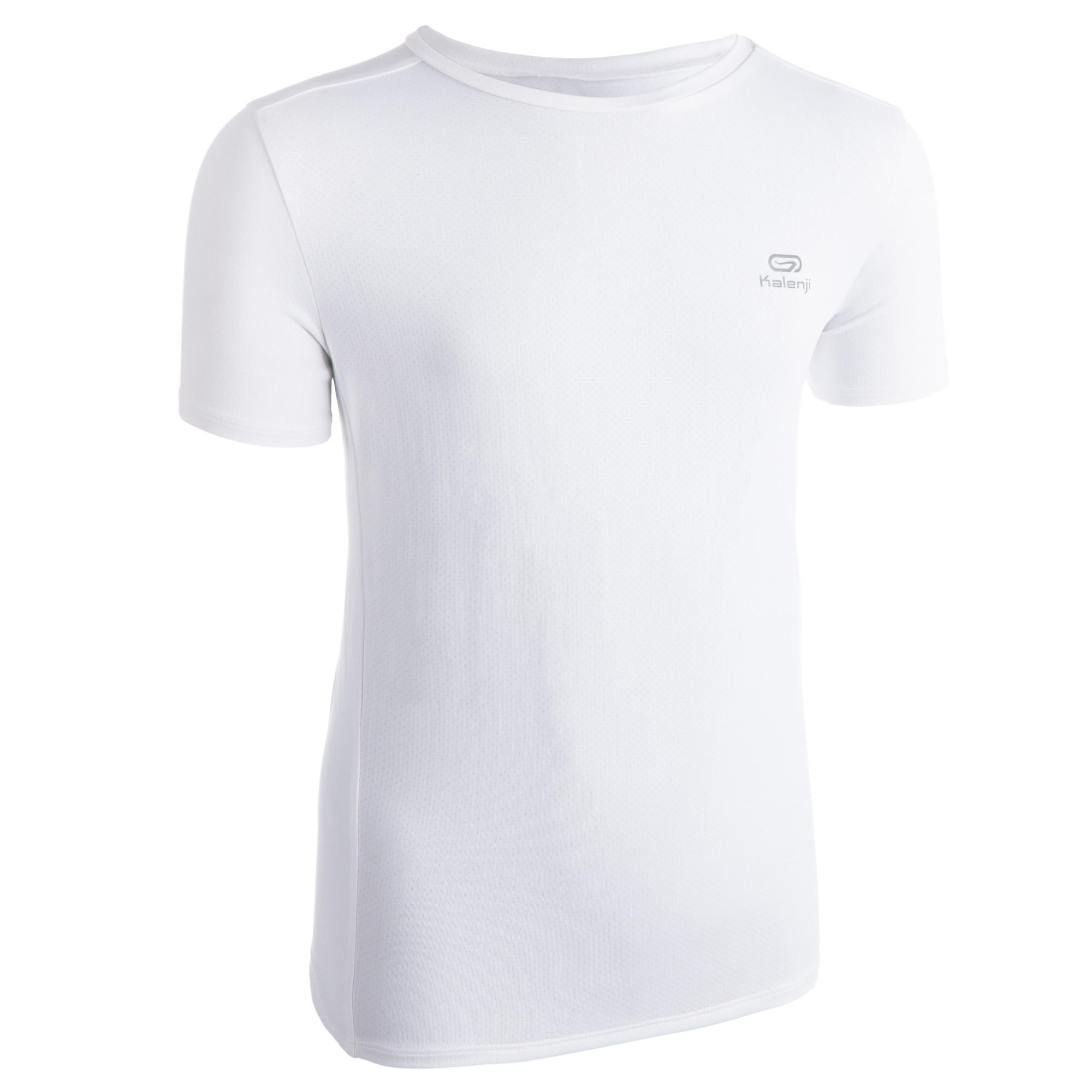 T-Shirt Leichtathletik AT100 atmungsaktiv Kinder weiss