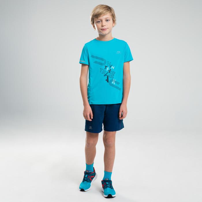 Baggy short voor atletiek kinderen AT 100 inktblauw