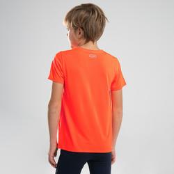 兒童款田徑T恤AT 100-螢光橘