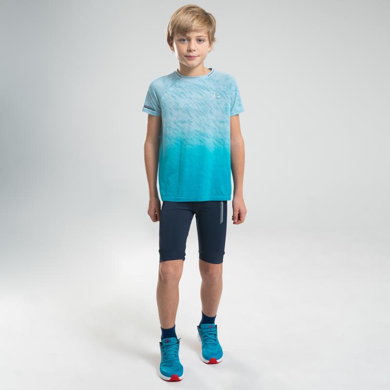 Calzas cortas infantil Atletismo AT 500 azul marino