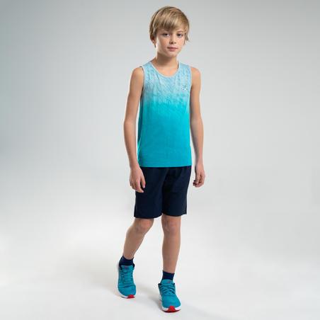 AT 500 BOYS' ATHLETICS SHORTS - BLUE