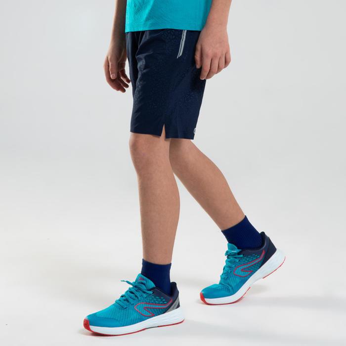 男孩款田徑短褲AT 500-藍色