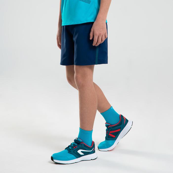 Short baggy enfant de running ou athlétisme AT 100 bleu encre