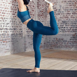 LEGGING LONG YOGA SANS COUTURE BLEU CANARD