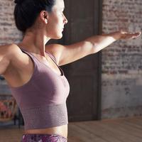 Seamless Long Dynamic Yoga Sports Bra