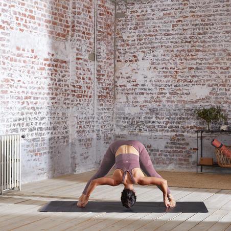 Legging Yoga 7/8 Tanpa Kelim - Burgundy