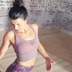 Sujetador Deportivo Top Yoga Bajo Impacto con Relleno Rosa