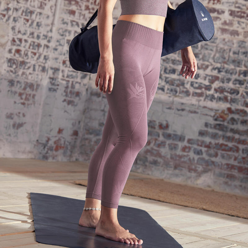 Seamless 7/8 Yoga Leggings - Burgundy
