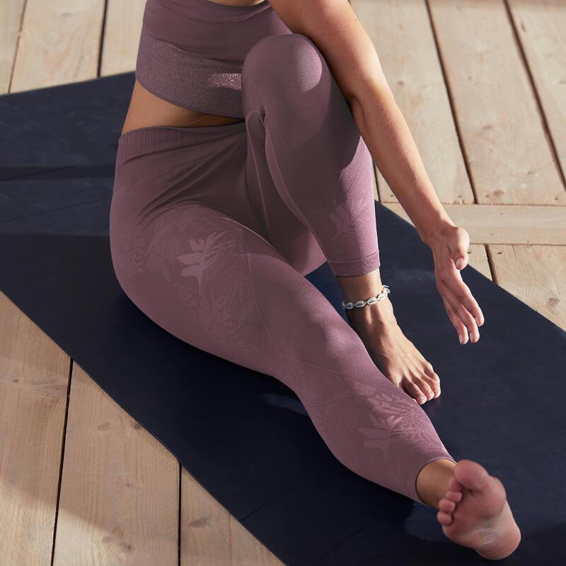 Mallas leggings Mujer seamless tobillero yoga morado