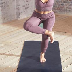 Malla yoga mujer leggins 7/8 Domyos morado