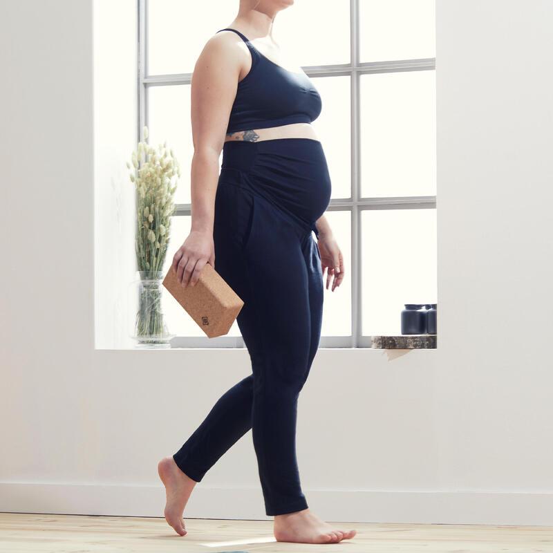 Broek voor zwangerschapsyoga ecodesigned zwart
