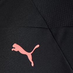 Hoodie met rits zwart/roze