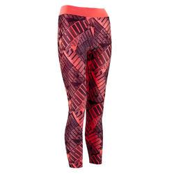 Legging 3/7 zwart/roze