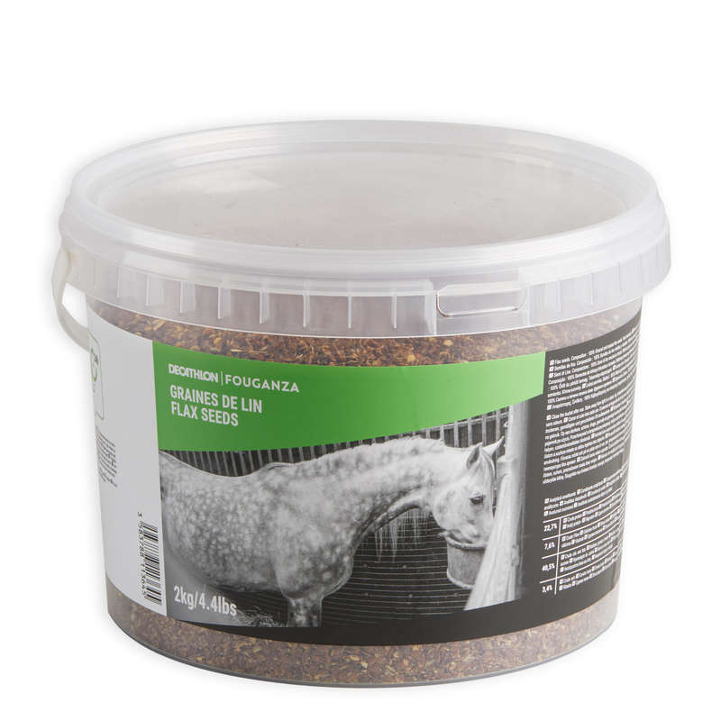 HORSE SUPPLEMENTS Horse Riding - Fougalin 2 kg Feed Bucket FOUGANZA - Horse Stable and Yard
