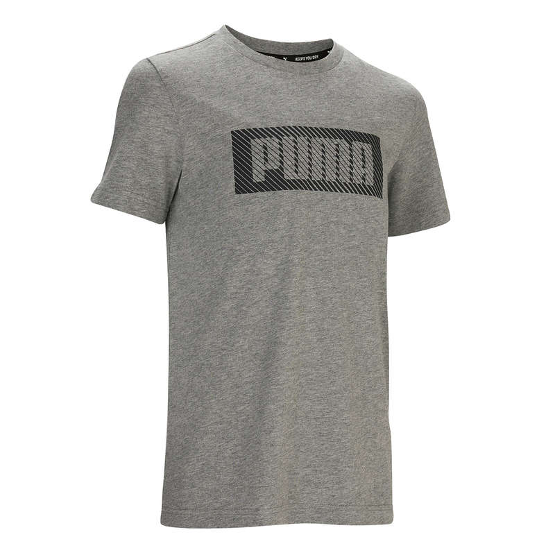 KLÄDER FÖR GYMPA, JUNIOR Populärt - T-shirt bomull PUMA ljusgrå PUMA - Överdelar