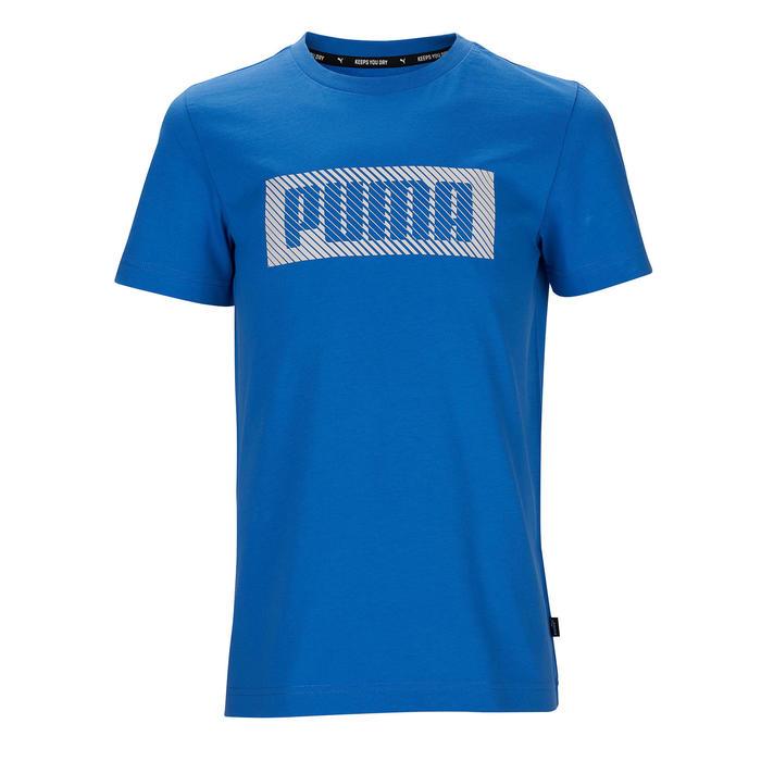 T-shirt katoen blauw