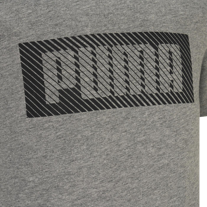 T-shirt katoen lichtgrijs