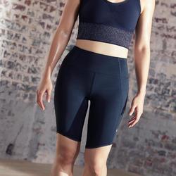 Malla ciclista Yoga mujer negro