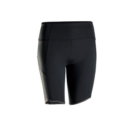 Women's Dynamic Yoga Shorts - Black