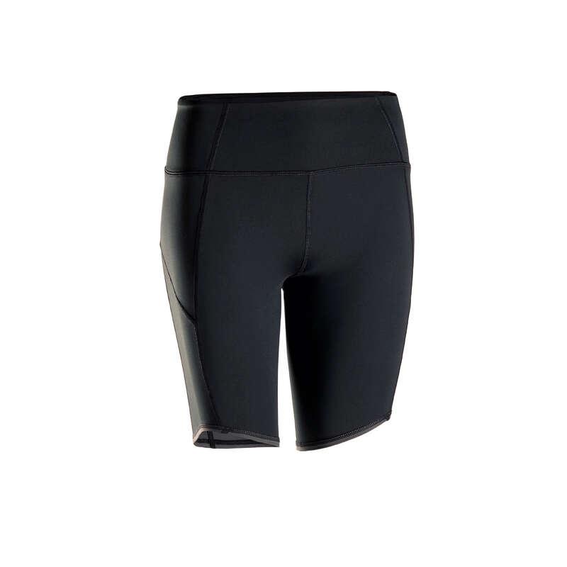 ABBIGLIAMENTO YOGA DONNA Yoga - Pantaloncini donna yoga neri DOMYOS - Abbigliamento yoga