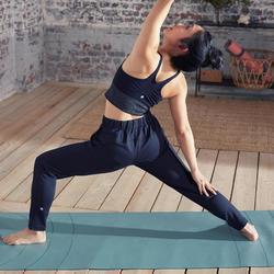 Soepele broek voor dynamische yoga dames Studio zwart