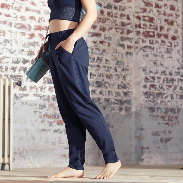 女款立體剪裁教室動態瑜珈長褲 - 黑色