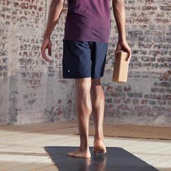 編織動態瑜珈短褲 - 黑色