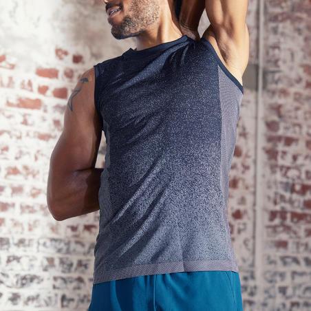 Men's Seamless Yoga Tank Top - Black