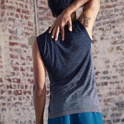 Mouwloos yogashirt voor heren naadloos zwart