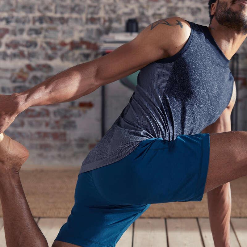 MAN YOGA APPAREL Clothing - Men's Yoga Tank Top - Black DOMYOS - By Sport
