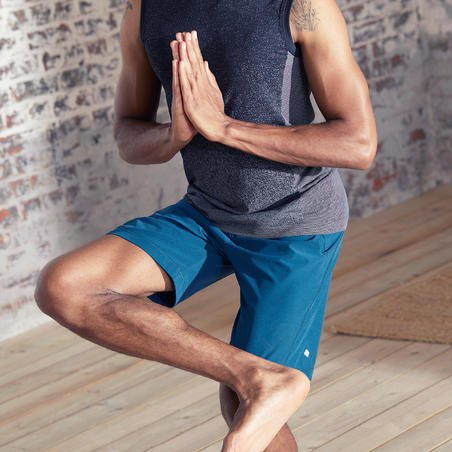 Woven Dynamic Yoga Shorts - Blue