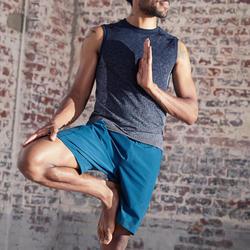 Short voor dynamische yoga heren blauw