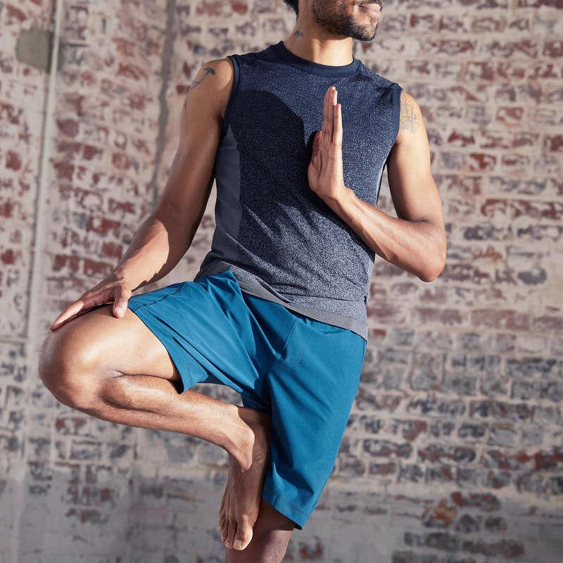 MAN YOGA APPAREL Clothing - Woven Dynamic Yoga Shorts DOMYOS - By Sport