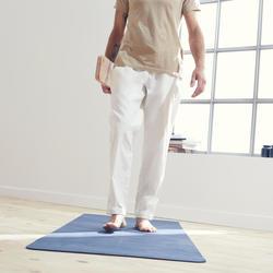 Pantalón Chándal Tela Yoga Domyos Hombre Blanco