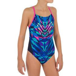Maillot de bain de natation une pièce fille résistant chlore Lexa kali rose