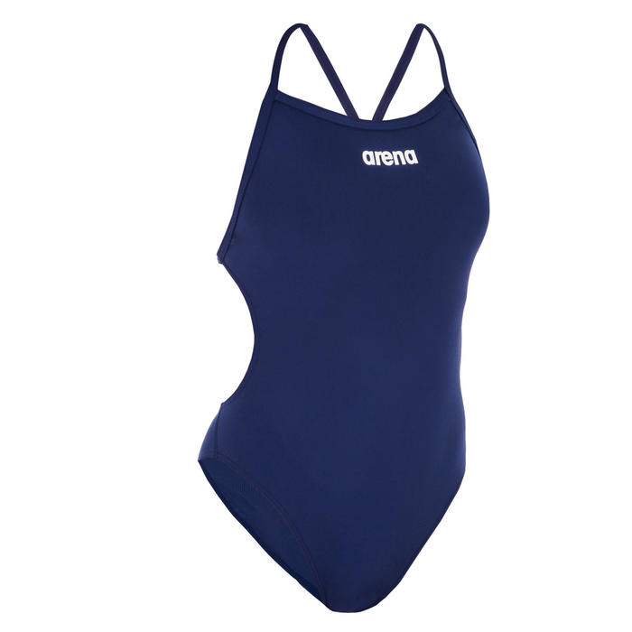 Bañador Natación Arena Solid Tech Mujer Azul Marino
