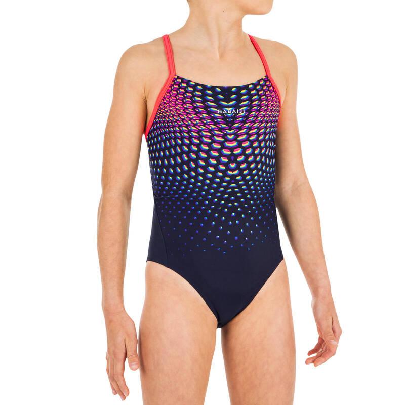DÍVČÍ PLAVKY Plavání - DÍVČÍ PLAVKY LEXA MODRO-RŮŽOVÉ NABAIJI - Plavky do bazénu