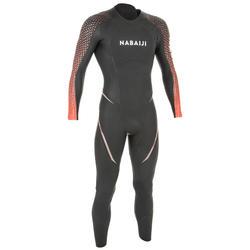 Neopreen herenwetsuit voor zwemmen in open water OWS 4/2 mm koud water