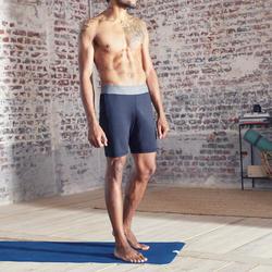 Herenshort voor hot yoga en Iyengar yoga donkergrijs