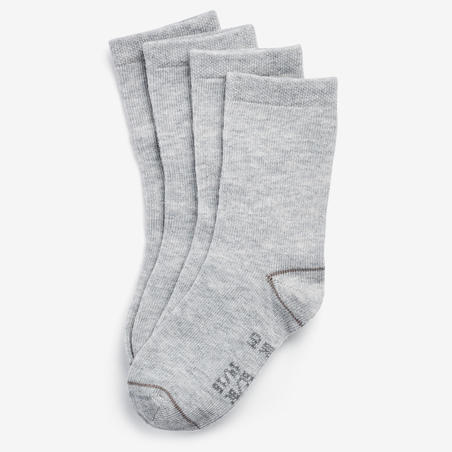 Mid Gym Socks 100 Twin-Pack - Grey/Grey