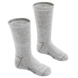 Basic sokken voor kinderen mid set van 2 paar grijs