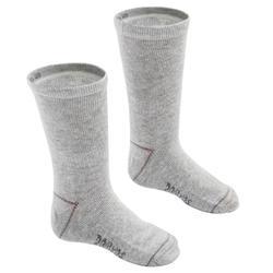 Sokken voor kleutergym 100 mid set van 2 paar grijs/grijs