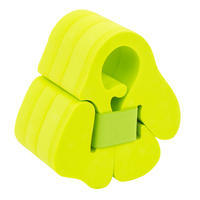 Swimming foam armbands with elasticated strap for 15-30 kg kids - green
