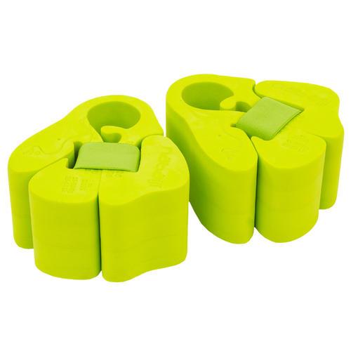 Brassards natation en mousse vert avec sangle élastiquée pour enfant de 15-30 kg