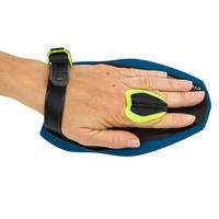 SWIMMING HAND PADDLES QUICK'IN SIZE S - BLACK/YELLOW