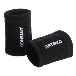 Schweißband TP 500 Tennis Handgelenk weiss/schwarz