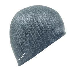 swim cap silicone unisize - printed gray