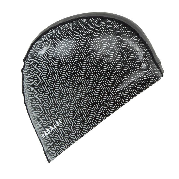 Badmuts textiel met silicone maat L print Geo zwart